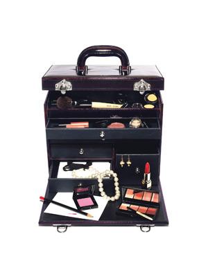 瑰丽紫晶豪华化妆箱