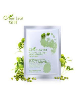 绿叶绿豆去角质嫩白美足膜