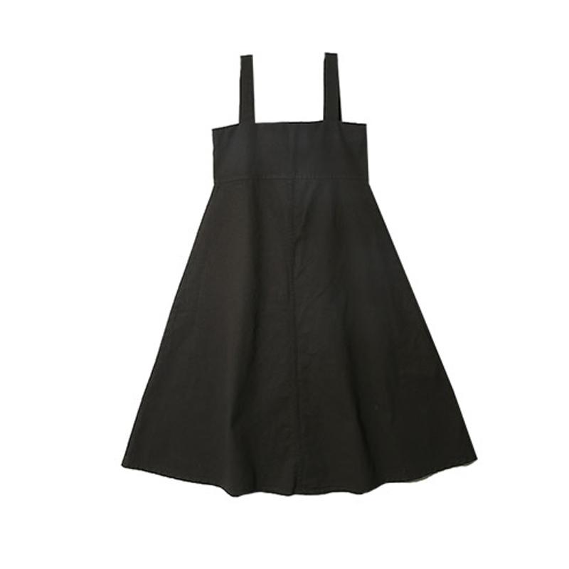 拉链设计高腰牛仔背带裙