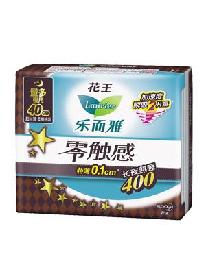 花王乐而雅零触感卫生巾夜用400mm*4片
