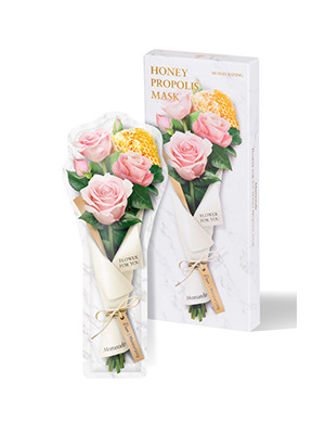 梦妆花语蜜意蜂胶玫瑰保湿水润面膜