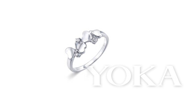 LOVING HEARTS 「心影」900铂金钻石戒指