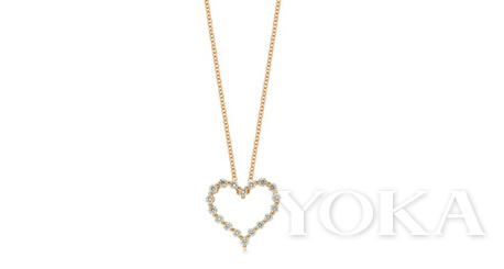 LOVING HEARTS 「心影」18K黄金钻石项链