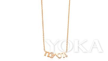 LOVE DéCODé 「爱情密语」18K黄金钻石项链