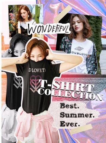 DOUBLOVE夏季新品,T恤穿搭的8种可能